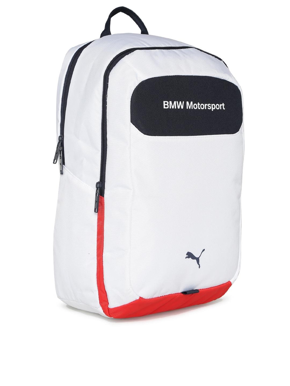 ed6b611e6883 Buy Puma Unisex White BMW Motorsport Backpack - Backpacks for Unisex ...