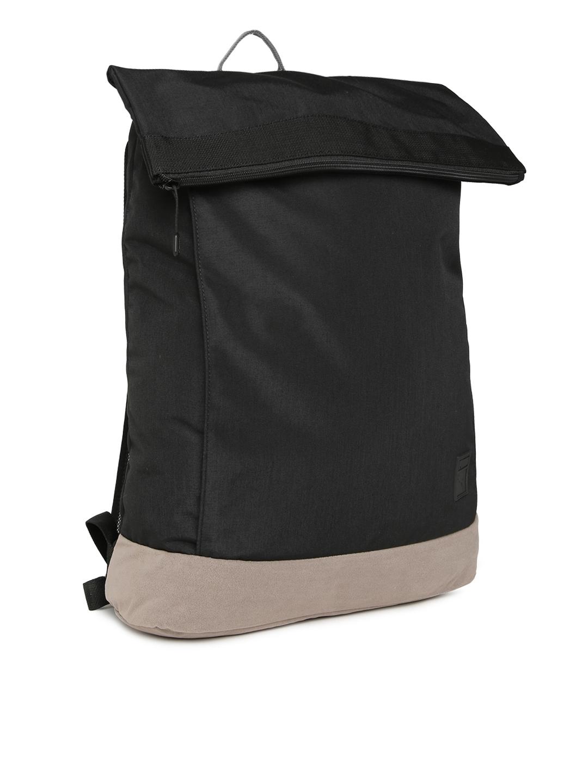 2835e37b695 Buy Puma Unisex Black Colourblocked Suede Backpack - Backpacks for ...