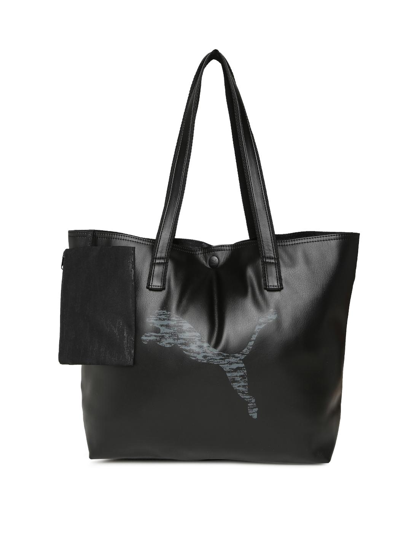 de9924574b Buy Puma Black Prime Large Shopper P Tote Bag - Handbags for Women ...