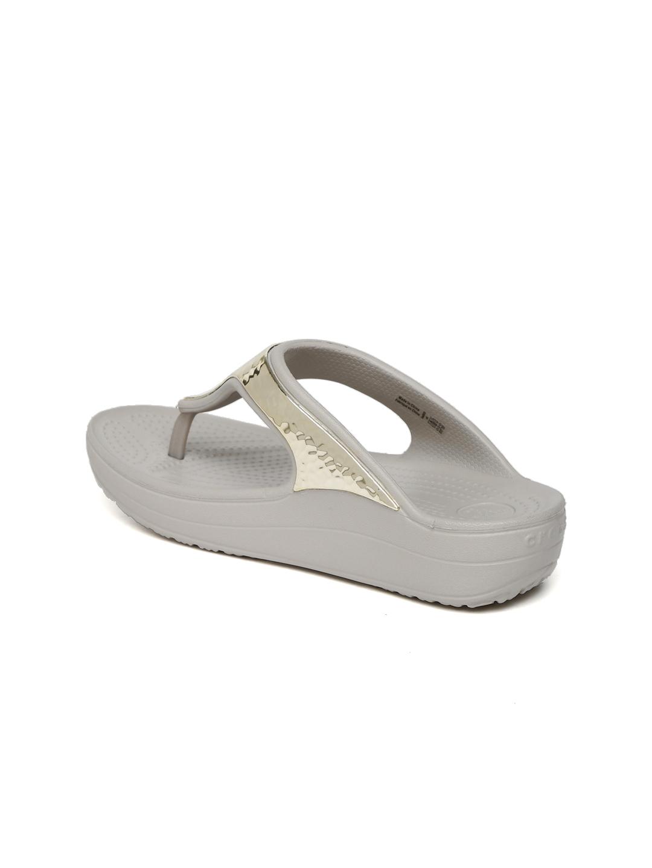 b3f7afcc0 Buy Crocs Women Grey Sloane Embellished Sandals - Heels for Women ...