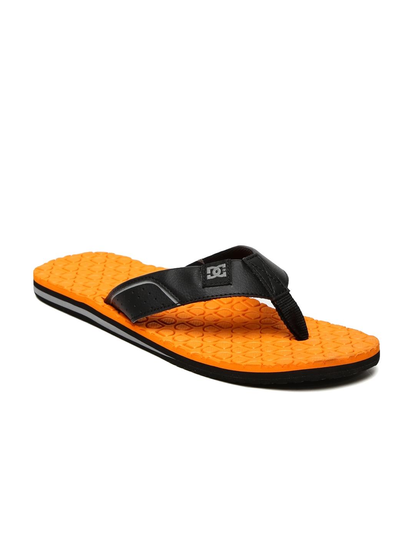 f0d8a70c5 Buy DC Men Black   Orange Kush M Flip Flops - Flip Flops for Men ...