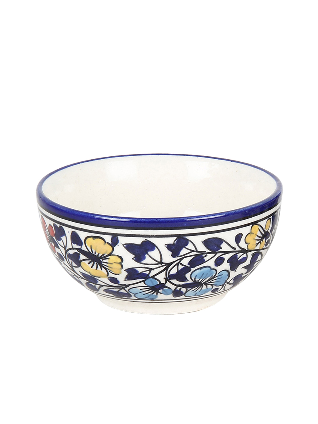 Buy Vareesha Set Of 2 Round Ceramic Serving Bowls With Cutlery