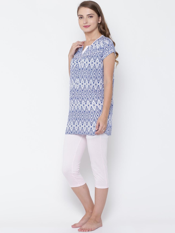 f9612b7fff Buy MADAME M SECRET Blue & Pink Printed Nightsuit S1630157 003 ...