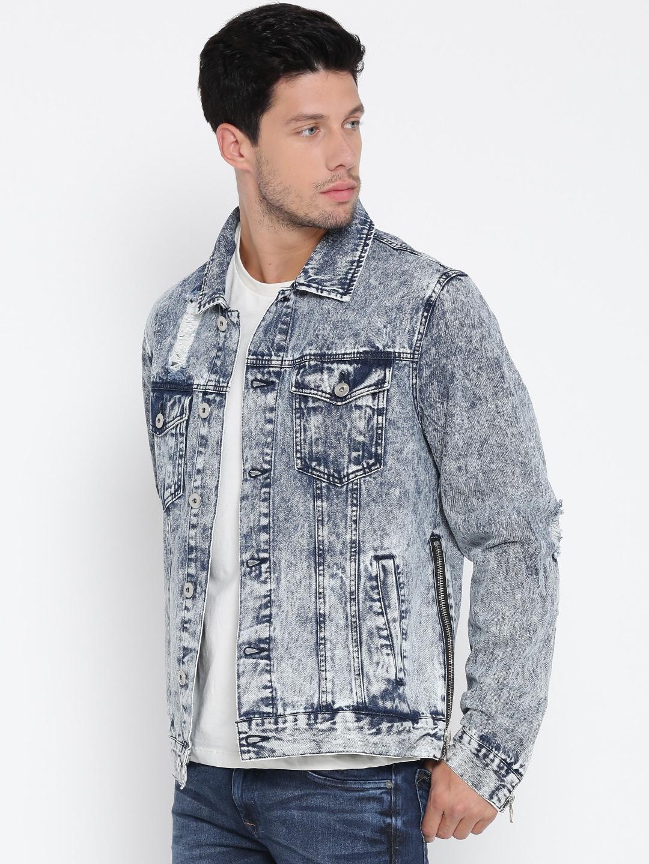 buy forever 21 men blue washed denim jacket jackets for men