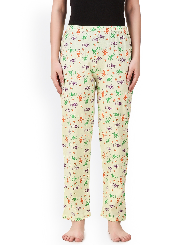 Masha Cream Coloured Printed Pyjamas PJ A1 45
