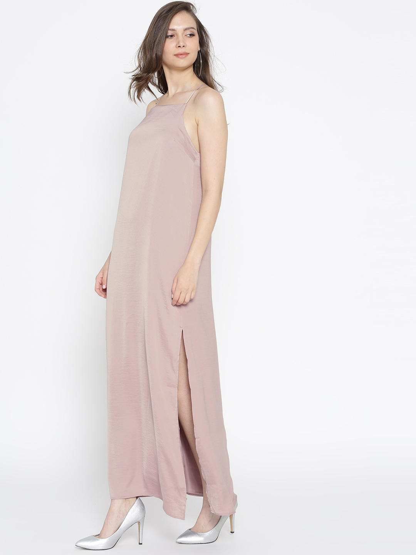 c64b2cfe7f7 Buy FOREVER 21 Women Mauve Solid Maxi Dress - Dresses for Women ...