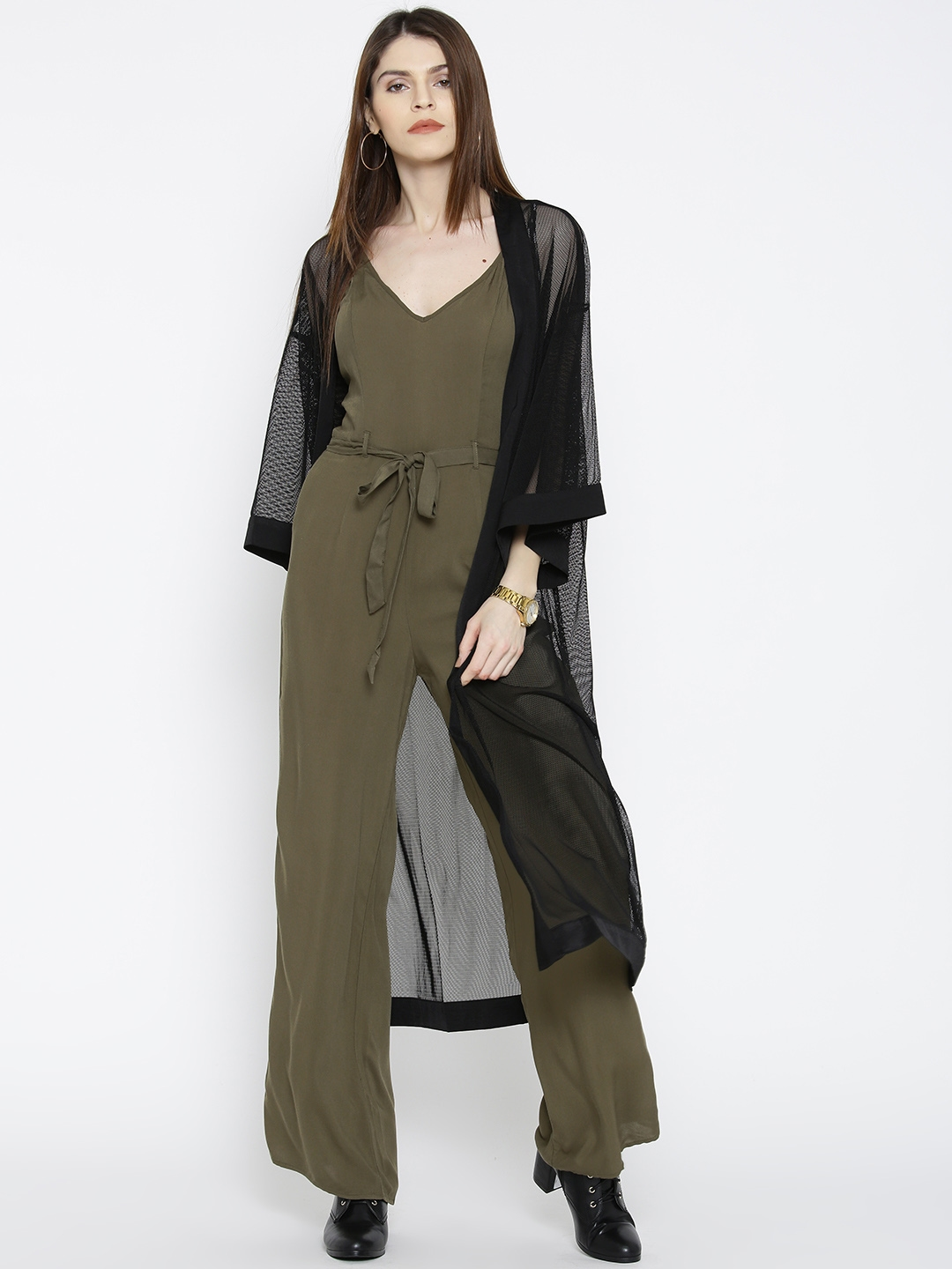 2ccbb9f044a Buy FOREVER 21 Olive Green Solid Jumpsuit - Jumpsuit for Women ...