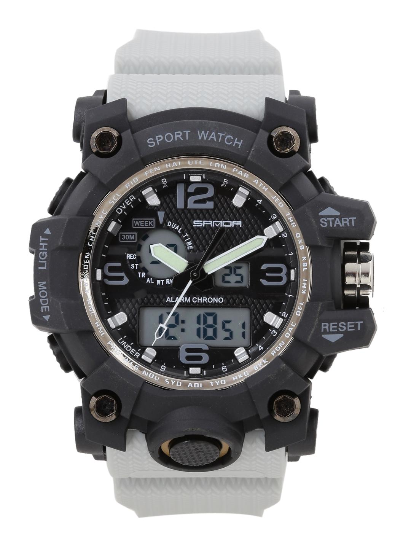 fbc1533b64efa7 Buy SANDA Men Black Analogue And Digital Watch S742BKOR - Watches ...