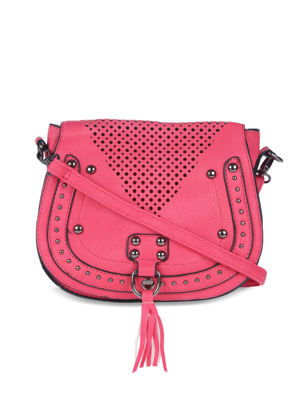 6c0b6e992d Buy FUR JADEN Pink Solid Sling Bag - Handbags for Women 2106990