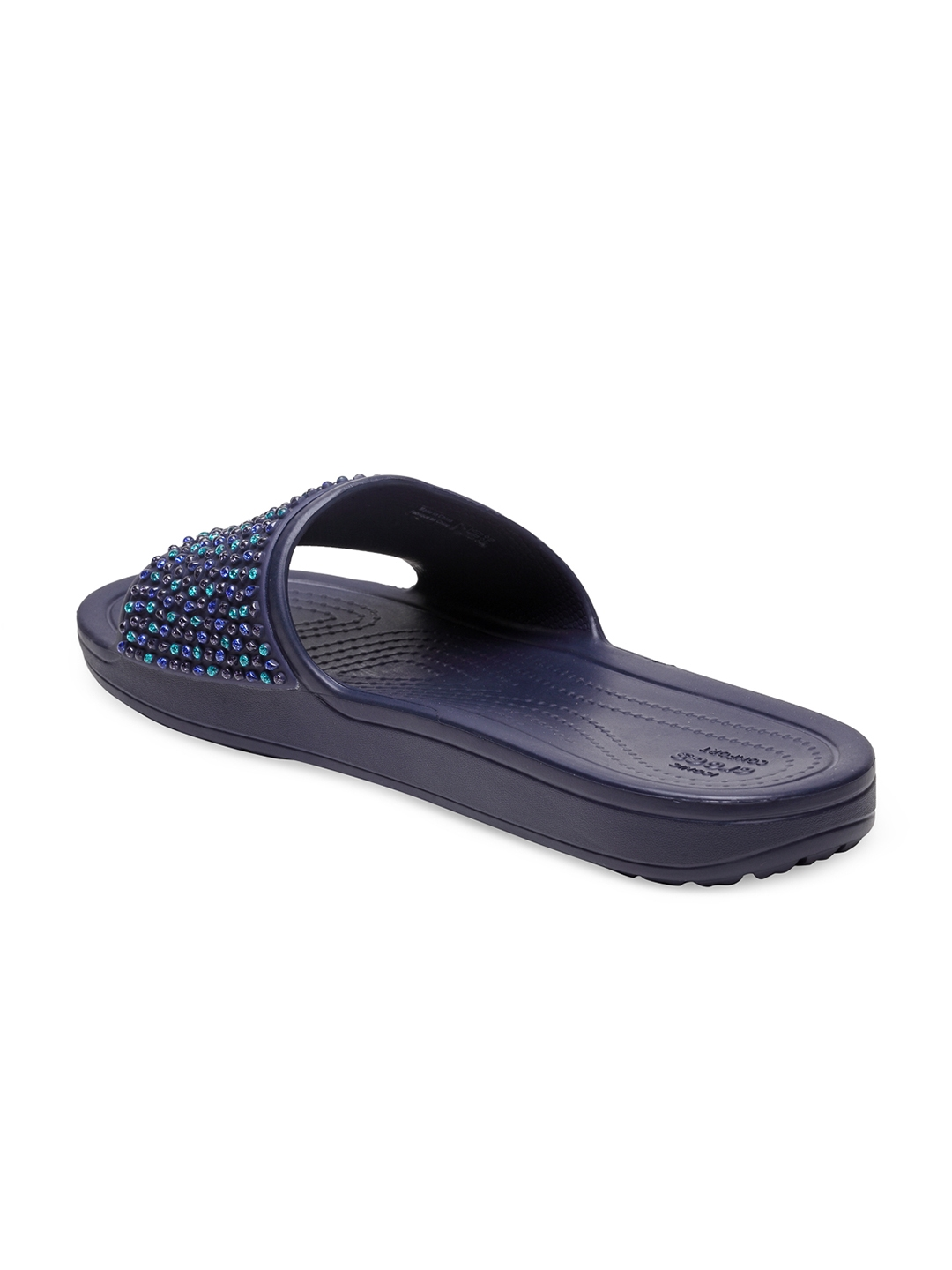 fa5e67766 Buy Crocs Women Navy Sloane Embellished Slides - Flip Flops for ...