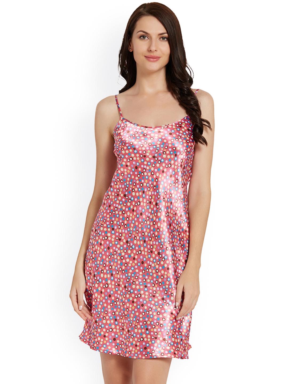 37a78123ba Blush by PrettySecrets Pink and Blue Satin Nightdress PS0717SCSE3