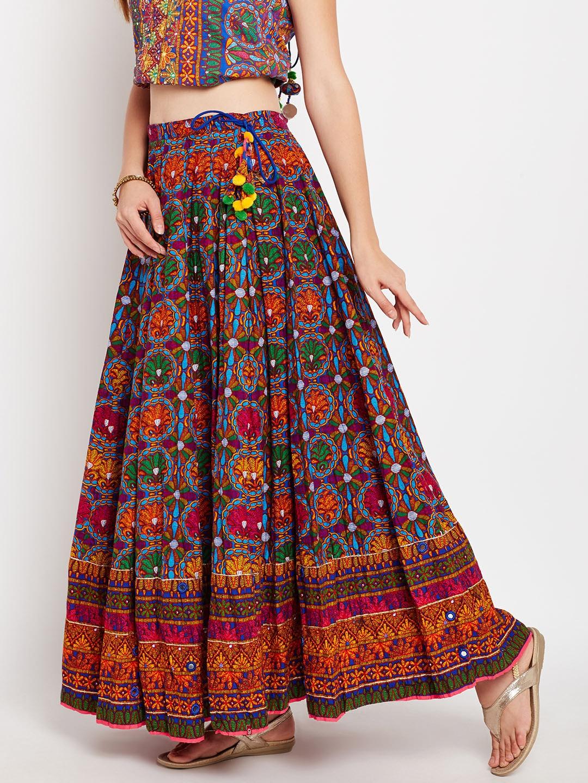 ae32e18c5f Buy Biba Multicoloured Printed Maxi Flared Skirt - Skirts for Women ...