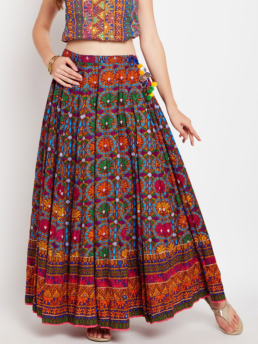 06829f8bcb Biba Multicoloured Printed Maxi Flared Skirt. This product is already at  its best price
