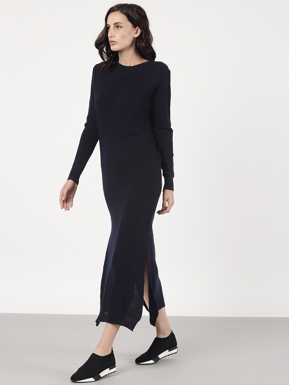 5d2795e94e5d Buy Ether Women Navy Sweater Dress - Dresses for Women 2111498