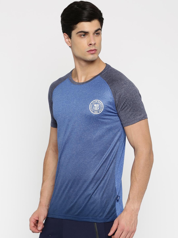 52092873070c4f Buy FC Barcelona Men Blue Solid Round Neck T Shirt - Tshirts for Men ...