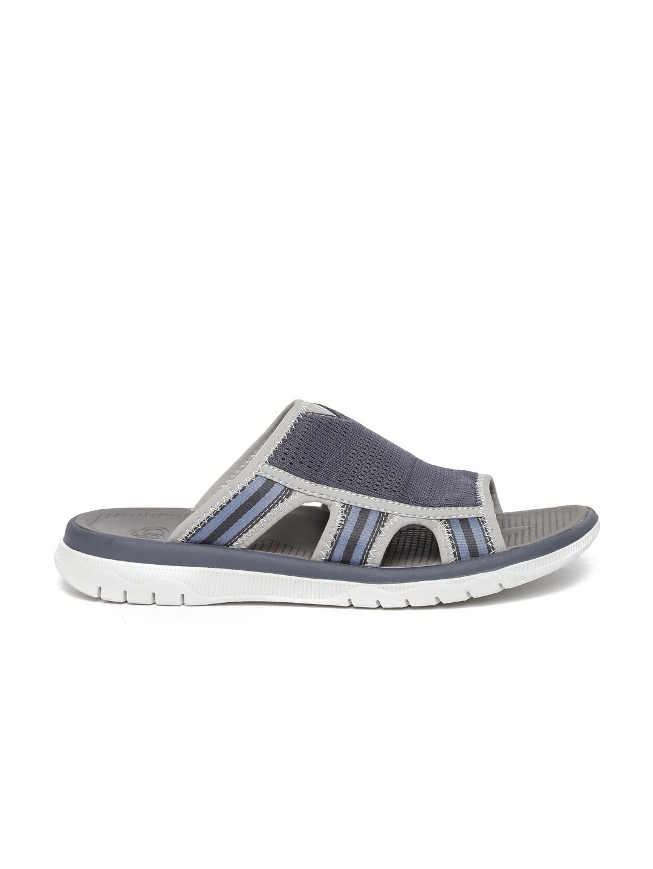 81804d2c9458 Buy Clarks Men Navy Blue   Grey Balta Ray Slip On Flip Flops - Flip ...