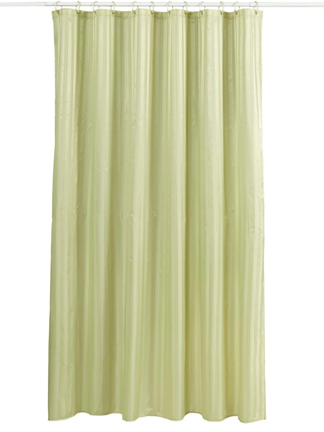 Buy OBSESSIONS Green Self Striped Single Shower Curtain