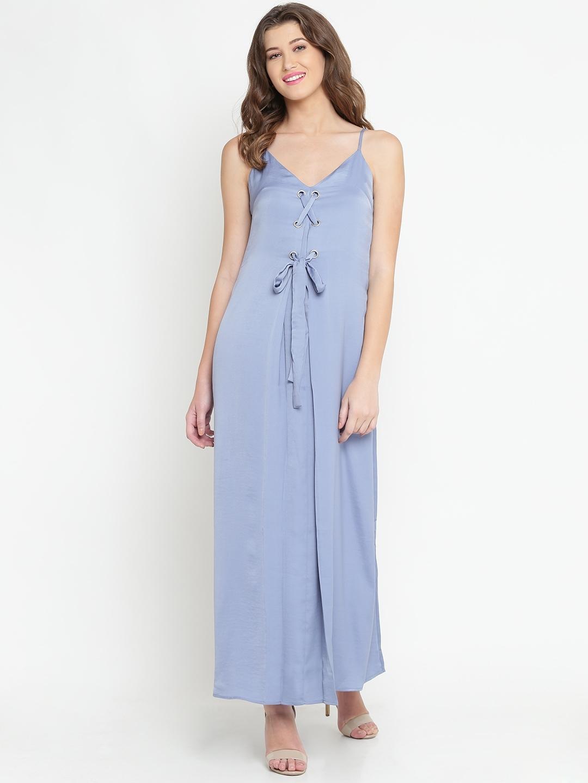 2cece1f529 Buy FOREVER 21 Women Blue Solid Maxi Dress - Dresses for Women ...