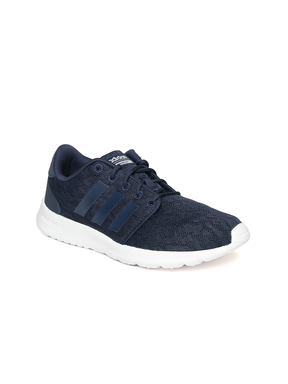b18adfaa43c0 Buy ADIDAS NEO Women Navy Blue Cloud Foam QT Racer Sneakers - Casual ...