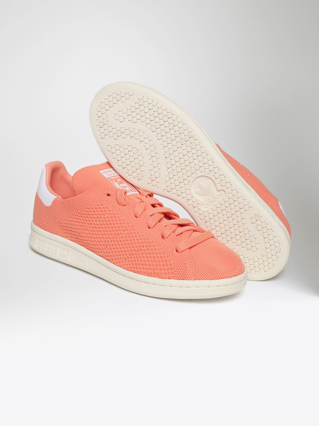 ADIDAS Originals Women Peach-Coloured Stan Smith Prime Knit Sneakers 5749927c27