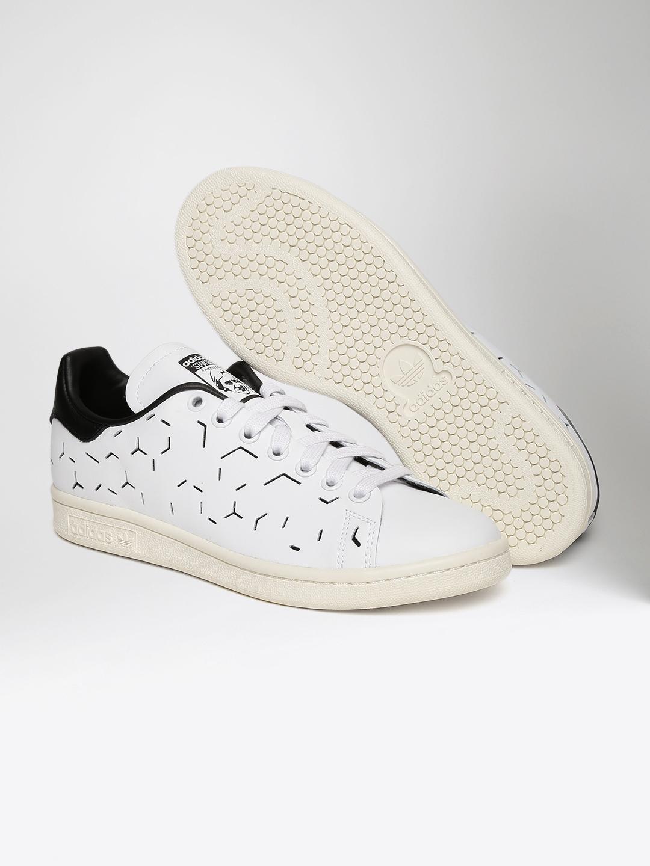more photos 1e8a5 3fa27 ADIDAS Originals Women White Stan Smith Cut-Out Sneakers