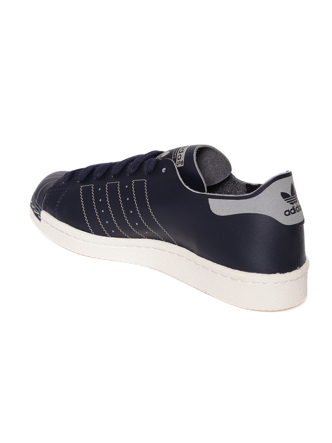 the latest ea383 a060c Adidas Originals Women Navy Superstar 80S DECON Leather Sneakers