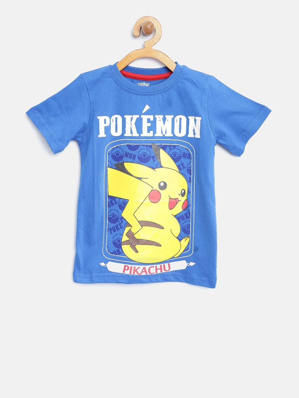 bf61c353 Buy YK Boys Blue Pikachu Print Round Neck T Shirt - Tshirts for Boys ...