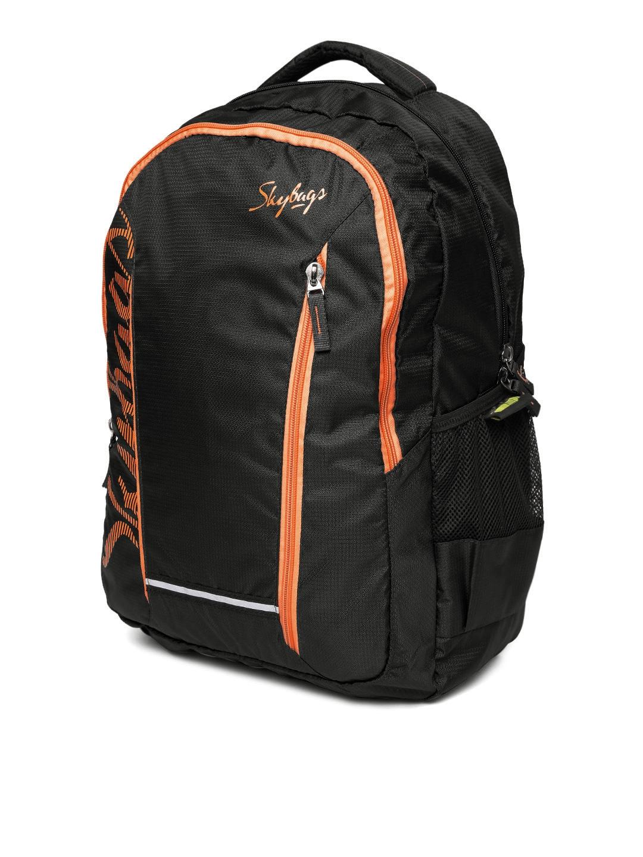 081ab55fe6 Buy Skybags Unisex Black Brand Logo Print Backpack - Backpacks for ...