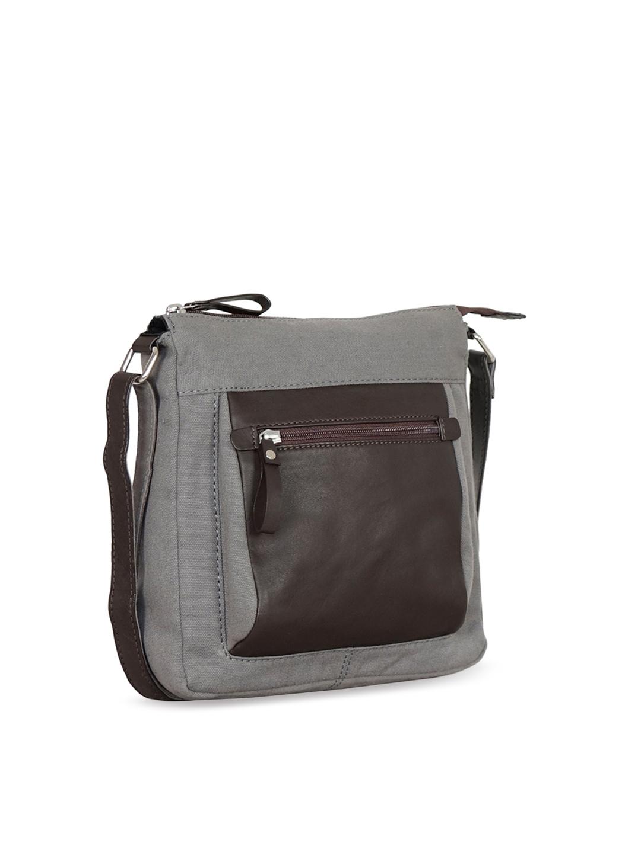 27a238e65d Buy Justanned Unisex Grey Front Pocket Crossbody Bag - Messenger Bag ...