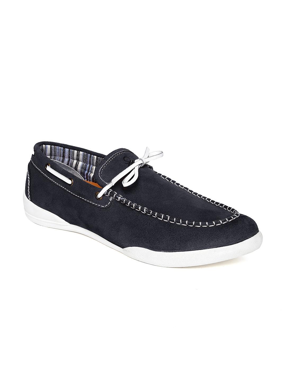 c01dabcbd7 Buy United Colors Of Benetton Men Navy Blue Suede Boat Shoes ...