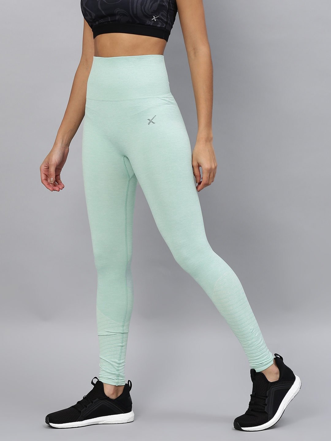 a816b92c0 Buy HRX By Hrithik Roshan Green Tights - Tights for Women 2131409 ...