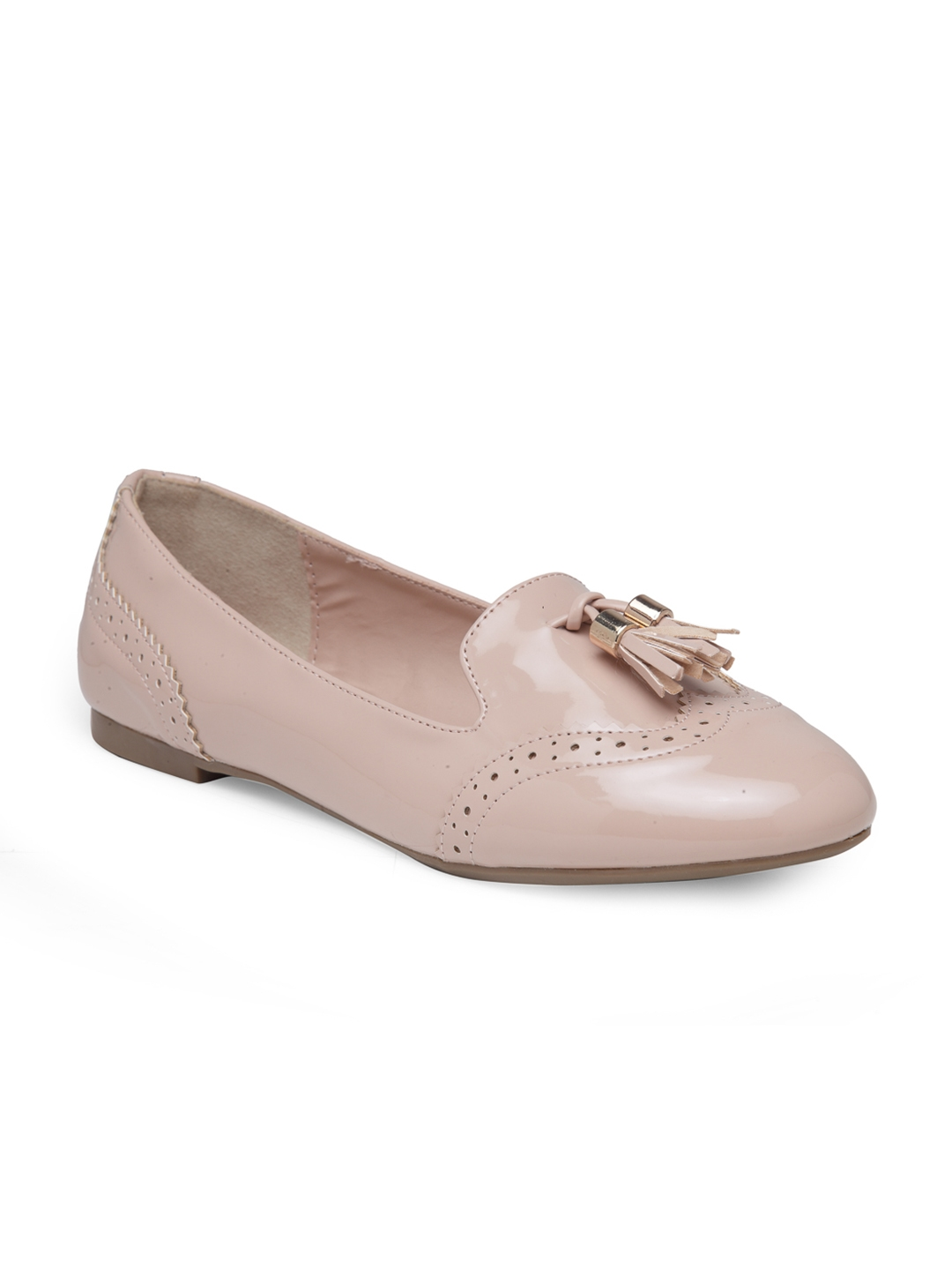 0c62381acd15 Buy London Rag Women Nude Coloured Solid Synthetic Ballerinas ...