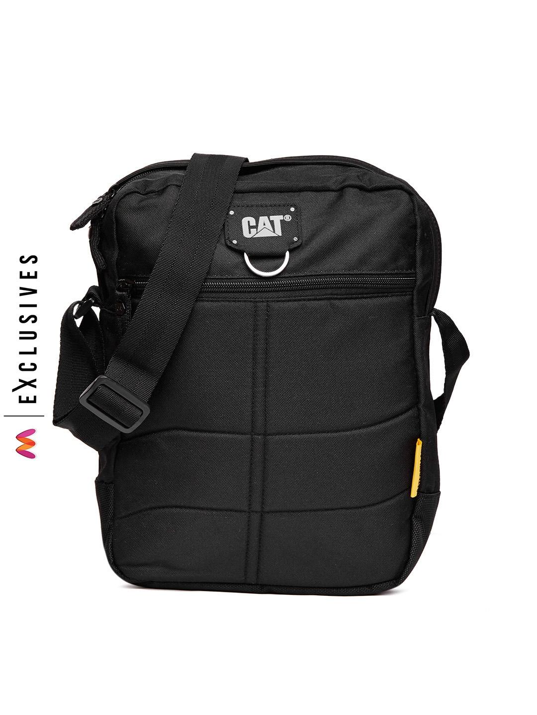 cce4887772 Buy CAT Men Black Messenger Bag - Messenger Bag for Men 2136669 | Myntra