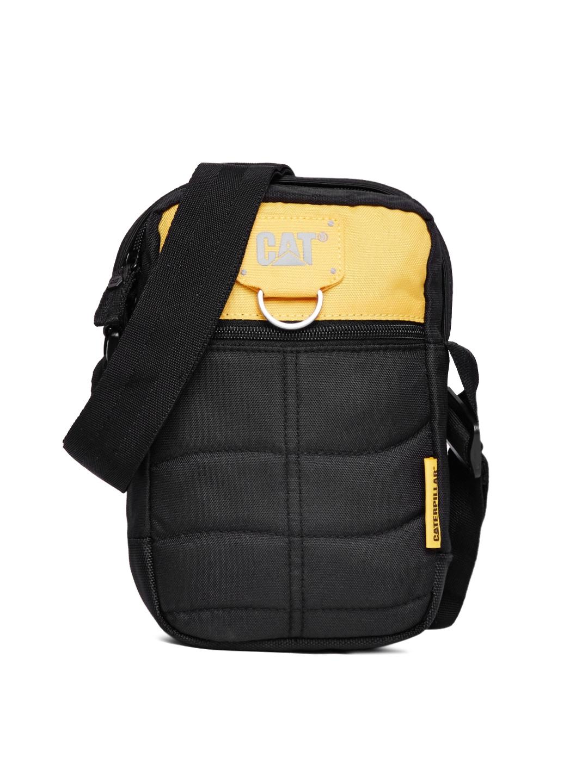 ade0892155 Buy CAT Men Black Messenger Bag - Messenger Bag for Men 2136671 | Myntra