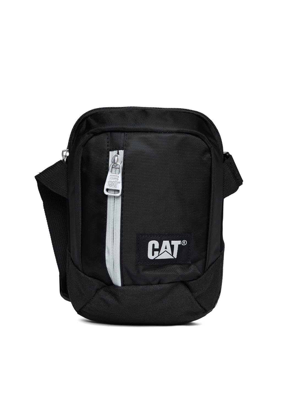 66f47f3f88 Buy CAT Men Black Messenger Bag - Messenger Bag for Men 2136675 | Myntra