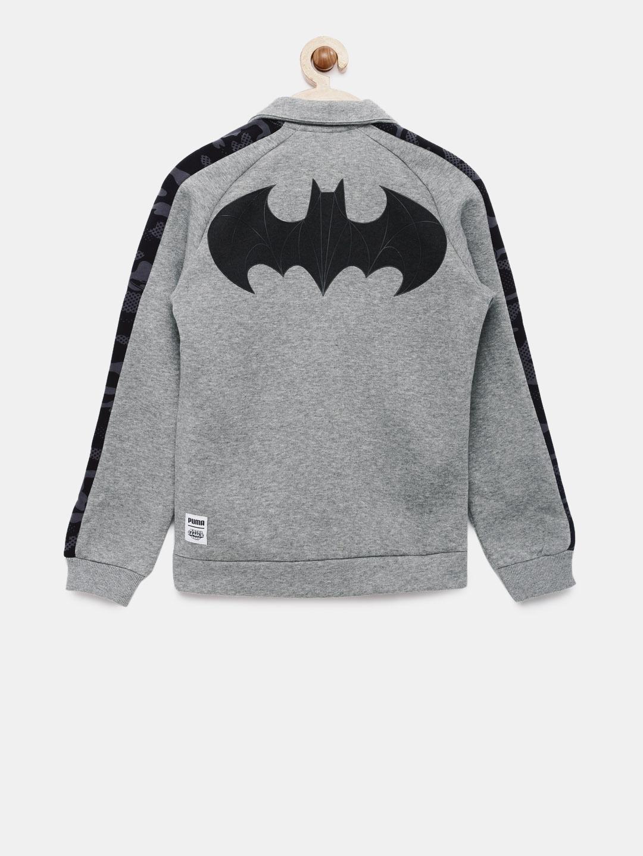 cdc4dd982b4b Buy Puma Boys Grey Solid Justice League Sporty Jacket - Jackets for ...