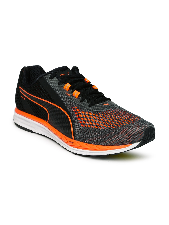acac52ffcb6 Buy Puma Men Grey   Black Speed 500 IGNITE 2 Running Shoes - Sports ...
