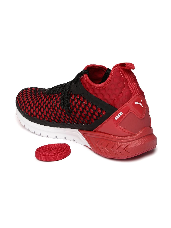 Buy Puma Men Red   Black IGNITE Dual NETFIT Running Shoes - Sports ... 98deccbf0