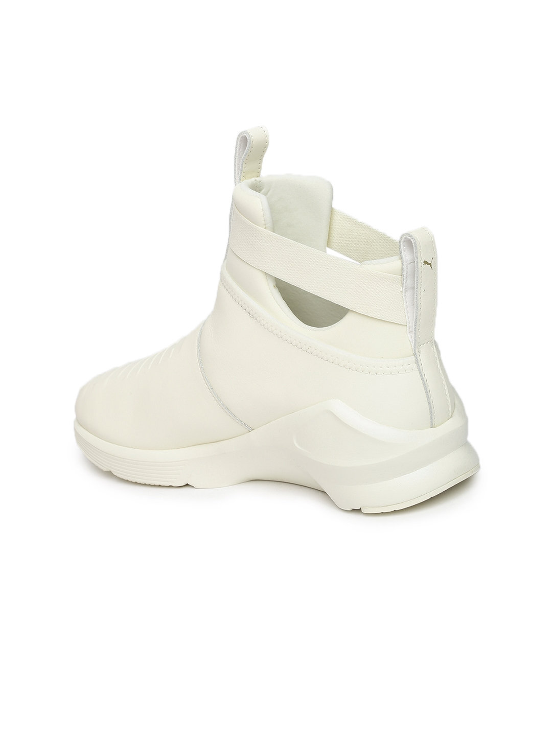 Buy Puma Women White Leather Mid Top Fierce Strap Training Or Gym ... ced9f33b6