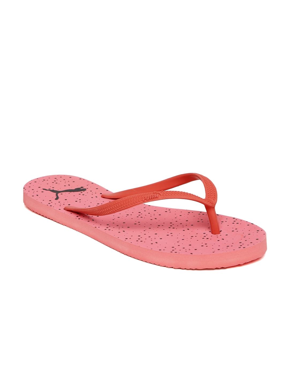 300a111b2aa3b Buy Puma Women Coral Pink First Flip Dots Printed Flip Flops - Flip ...