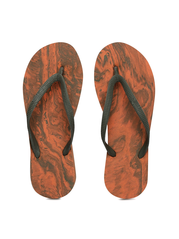 516b6ce2be2 Buy Puma Women Grey   Orange Platform Marble Printed Flip Flops ...