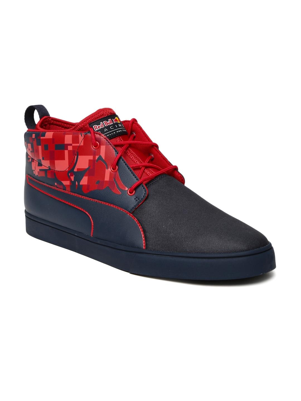 bbaff3839ef0 Puma Unisex Navy Blue   Red RBR Desert Boot Bulls Mid-Top Sneakers