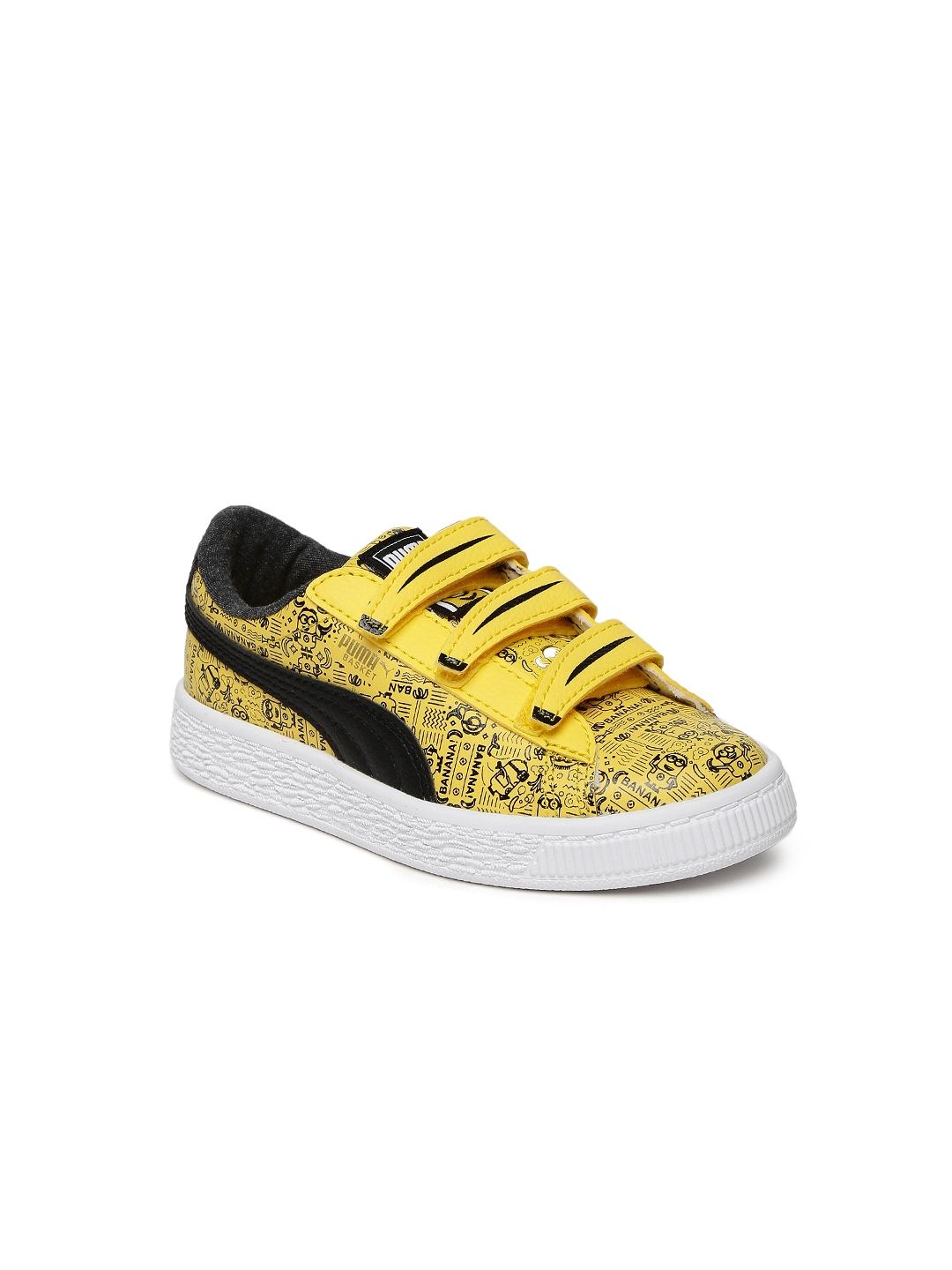 Buy Puma Unisex Yellow Printed Minions Basket V PS Sneakers - Casual ... d999e3a1d
