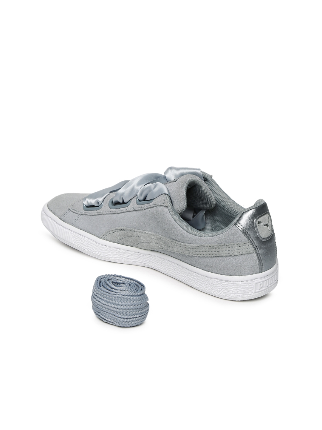 new concept 245e9 48c57 Buy Puma Women Grey Suede Heart Safari Sneakers - Casual ...