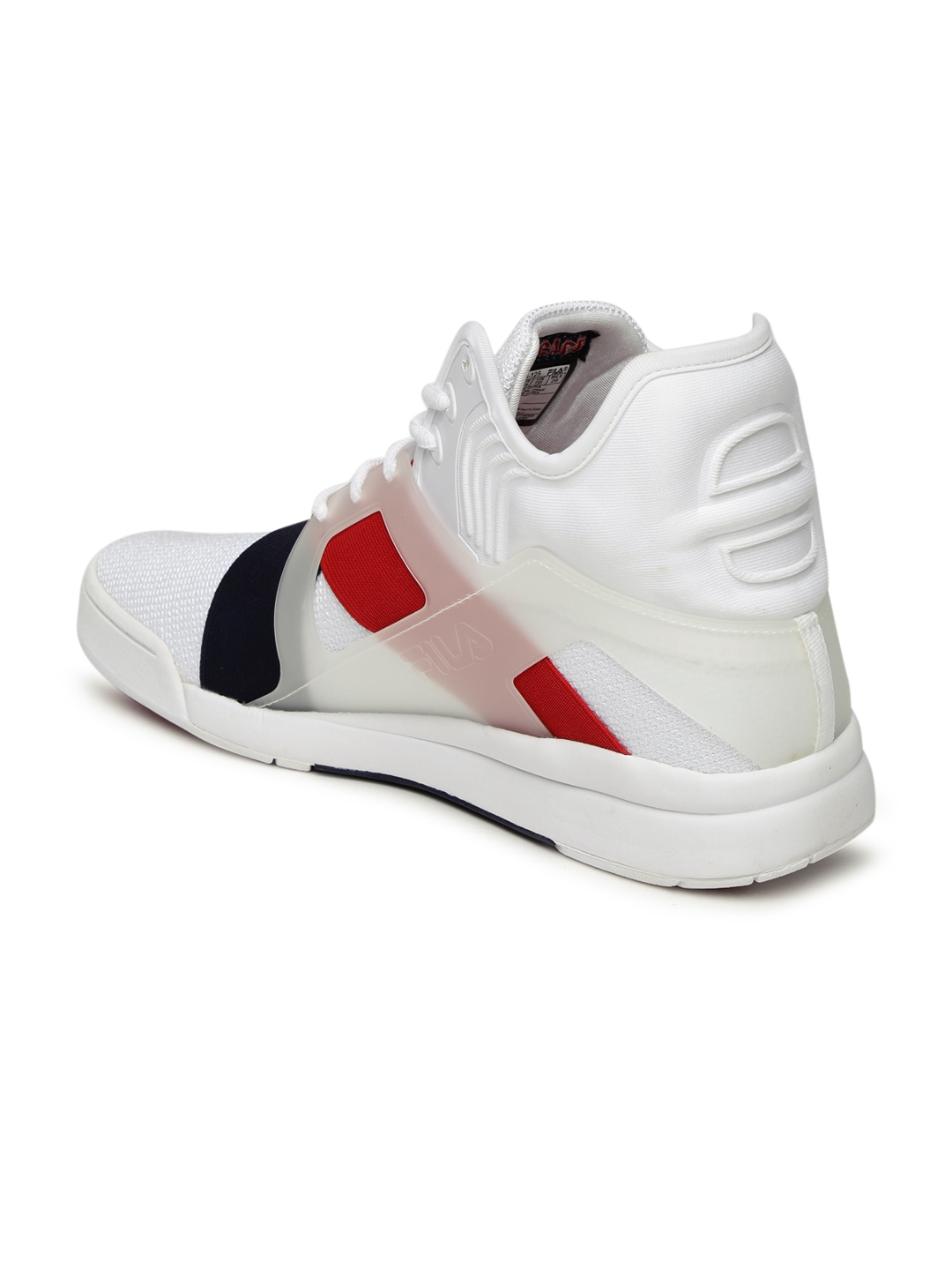 93c83cb3da4d Buy FILA Men White THE CAGE 17 LOGO Mid Top Sneakers - Casual Shoes ...