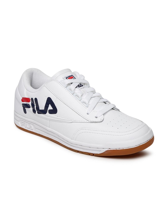 ee3f21eecf5f88 Buy FILA Men White Perforations ORIGINAL TENNIS LOGO Sneakers ...