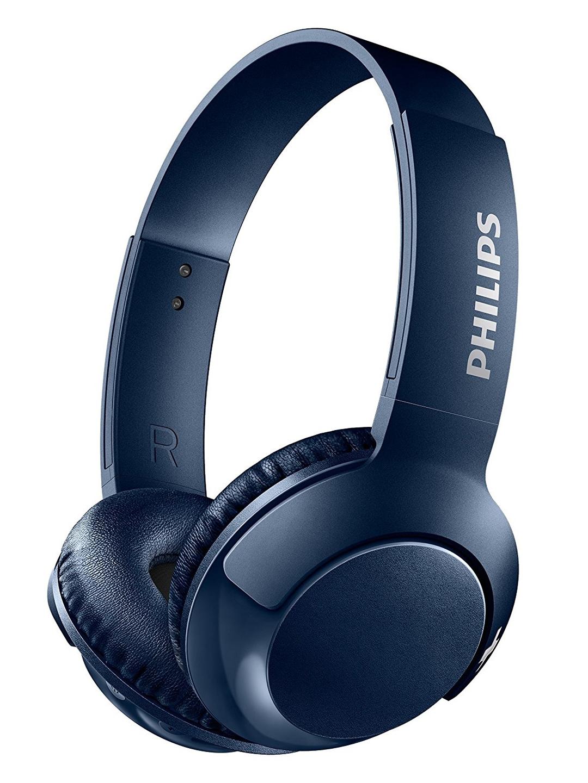 Philips Navy Bass + Over The Ear Wireless Headphones