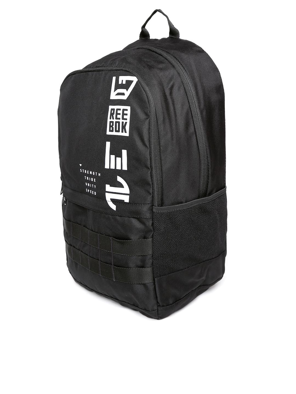 c6ecbbfaa9 Buy Reebok Kids Black REBELZ Brand Logo Backpack - Backpacks for ...