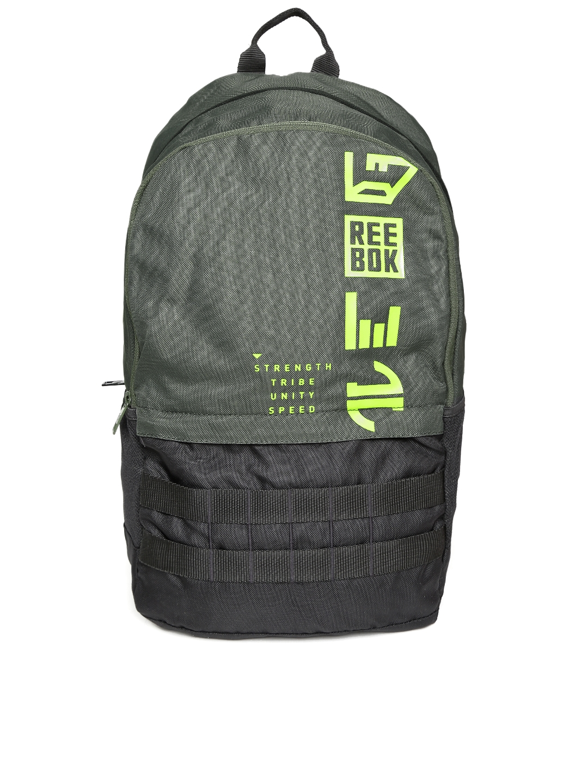 7d0f73f6fa Buy Reebok Kids Grey   Black REBELZ Brand Logo Backpack - Backpacks ...