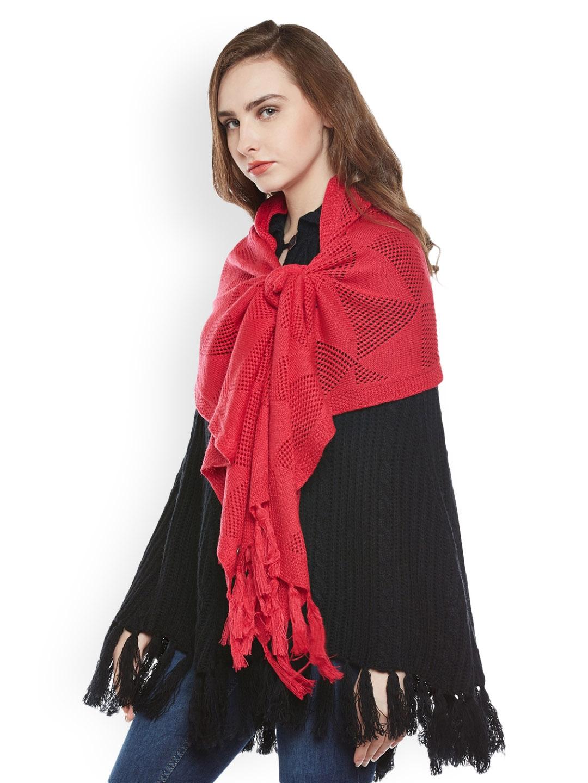7cefc4207 Buy Cayman Pink Woollen Stole - Stoles for Women 2140624